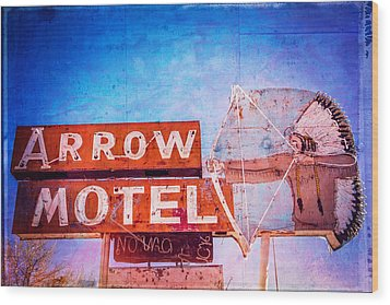 Arrow Motel Wood Print