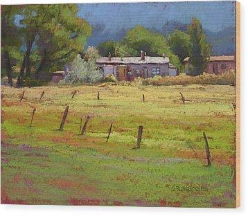 Arroyo Hondo Wood Print by Sarah Blumenschein