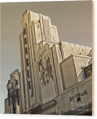 Art Deco Building Wood Print by Gregory Dyer