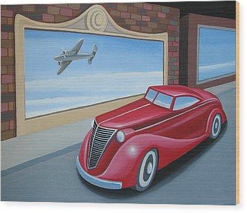 Art Deco Coupe Wood Print by Stuart Swartz