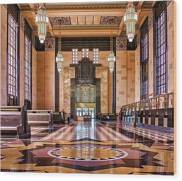 Art Deco Great Hall #1 Wood Print by Nikolyn McDonald