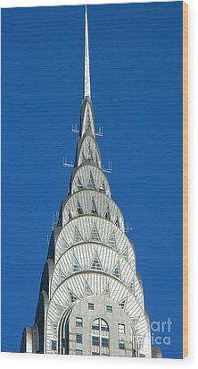 Art Deco Skyscraper - The Chrysler Building Wood Print by Emmy Vickers
