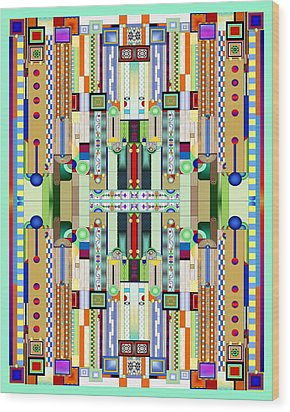 Art Deco Stained Glass 2 Wood Print
