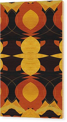 Art Deco Two - Abstract Art Wood Print by Ann Powell