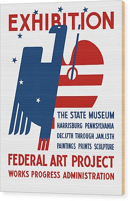 Art Exhibition The State Museum Harrisburg Pennsylvania Wood Print by War Is Hell Store