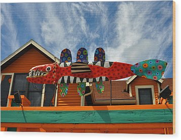 Art Gallery Suttons Bay Mi Wood Print by Diane Lent