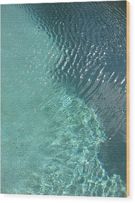 Art Homage David Hockney Swimming Pool Arizona City Arizona 2005 Wood Print by David Lee Guss