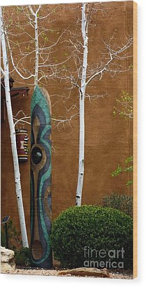 Art In Nature Wood Print by Claudette Bujold-Poirier