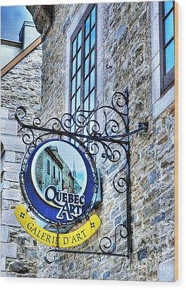 Art In Old Quebec Wood Print by Mel Steinhauer