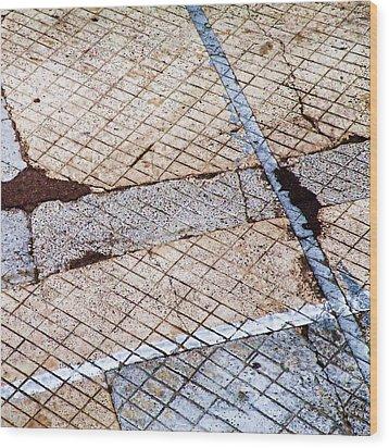 Art In The Street 3 Wood Print by Carol Leigh