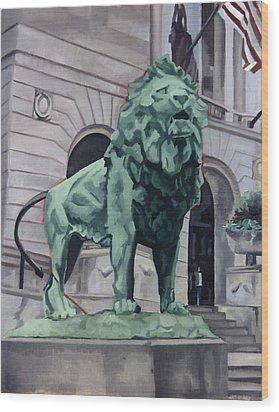 Art Institute Of Chicago Wood Print