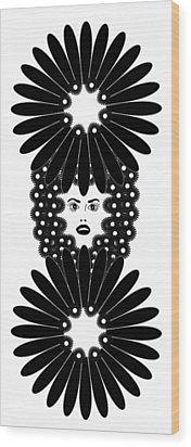 Art Nouveau Design 453 Wood Print by Frank Tschakert