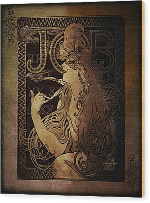 Art Nouveau Job - Masquerade Wood Print