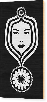 Art Nouveau Woman Wood Print by Frank Tschakert