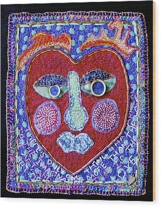 Art Of Love Wood Print by Susan Sorrell
