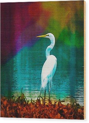 Art Of The Egret Wood Print