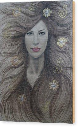 Artemis Wood Print by Lynet McDonald