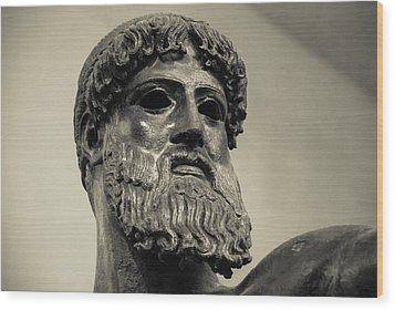 Artemision Zeus Wood Print by David Waldo