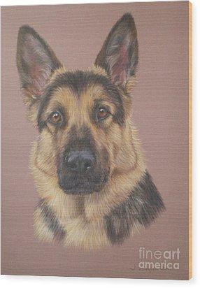 Arthur - German Shepherd Wood Print by Joanne Simpson