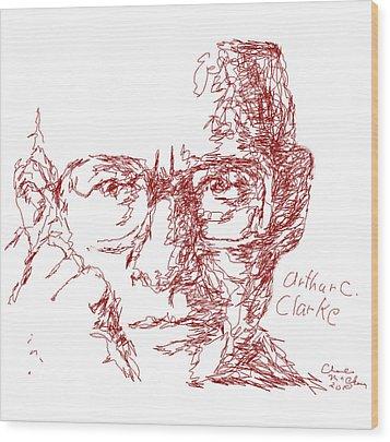 Arthur C. Clark Wood Print