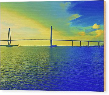 Arthur Ravenel Bridge 19 Wood Print