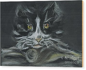 Wood Print featuring the pastel Arthur  by Teresa White