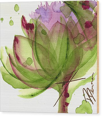 Artichoke Flower Wood Print