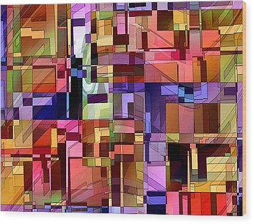 Wood Print featuring the digital art Artificial Boundaries by Ginny Schmidt