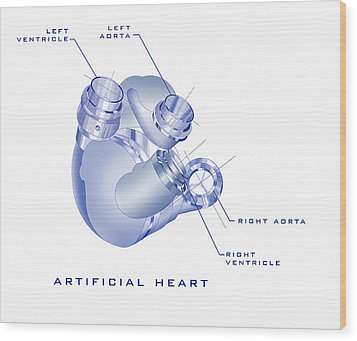 Artificial Heart Wood Print by James Christopher Hill