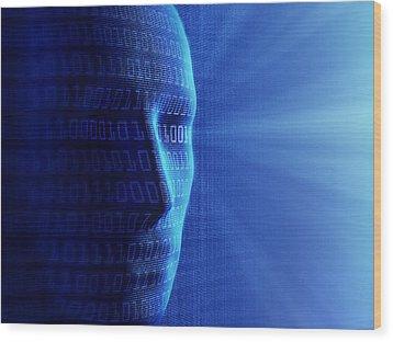 Artificial Intelligence Wood Print by Johan Swanepoel
