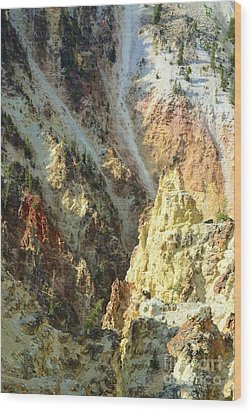 Artist Palette Of Yellowstone Wood Print by Kathleen Struckle