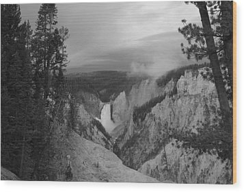Artist Point Black And White Wood Print