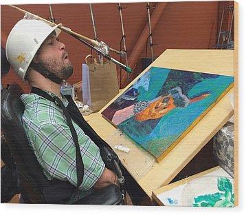 Artist Working Wood Print