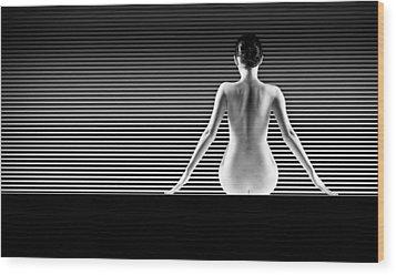 Artistic Nude Wood Print by Dan Comaniciu