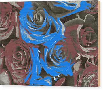 Wood Print featuring the photograph Artistic Roses On Your Wall by Joseph Baril