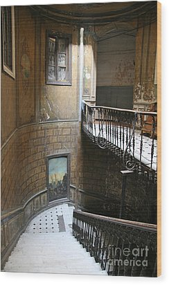 Artistic Staircase In Tbilisi Wood Print