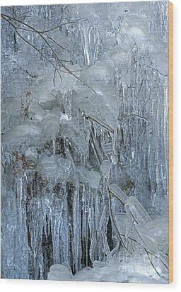 Artistry In Ice 9 Wood Print