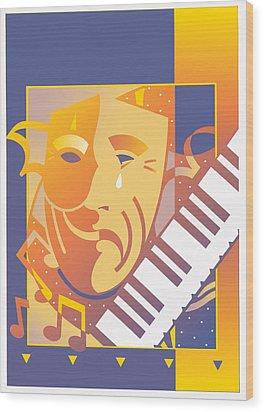 Arts And Music Wood Print