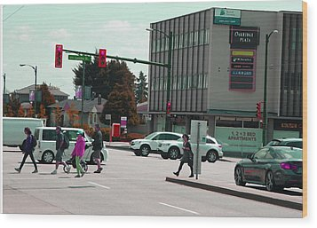 Wood Print featuring the photograph Oakridge Intersection by Laurie Tsemak