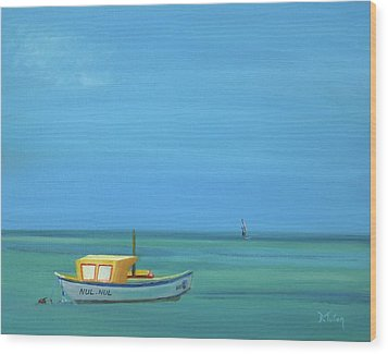 Wood Print featuring the painting Aruba by Donna Tuten
