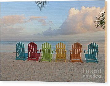 Aruba Sunrise 0746a Wood Print