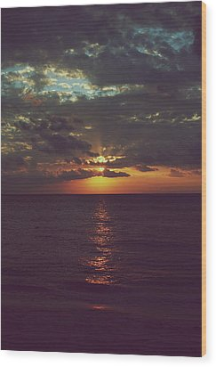 As Day Turns Into Night Wood Print by Laurie Search