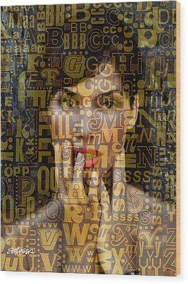 As Easy As A B C Wood Print by Seth Weaver