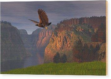 As Once Beheld Wood Print by Dieter Carlton
