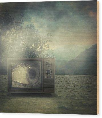 As Seen On Tv Wood Print by Taylan Apukovska