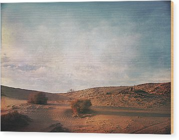 As The Sand Shifts So Do I Wood Print by Laurie Search
