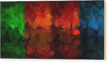 As The Seasons Turn Wood Print by Lourry Legarde