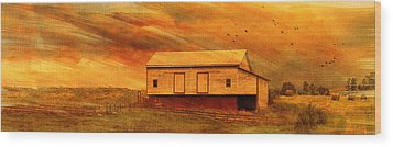 As The Sun Sets Wood Print by Kathy Jennings