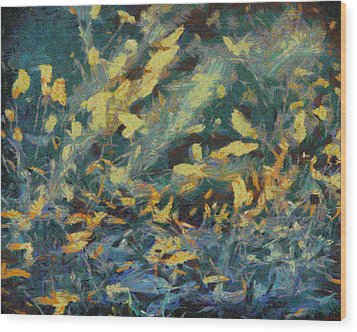 Wood Print featuring the painting As The Wind Blows by Joe Misrasi