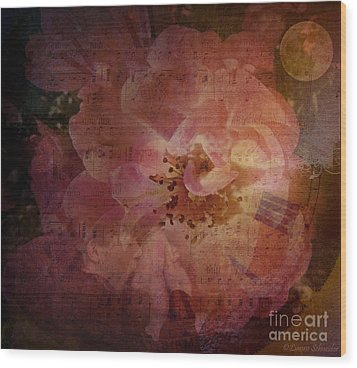 As Time Goes By Wood Print by Lianne Schneider